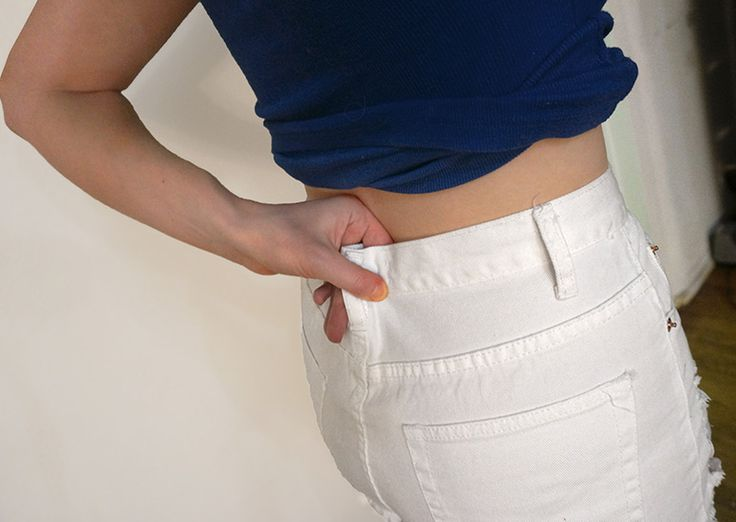 How To Take In Shorts: Easy DIY to resize a waistband