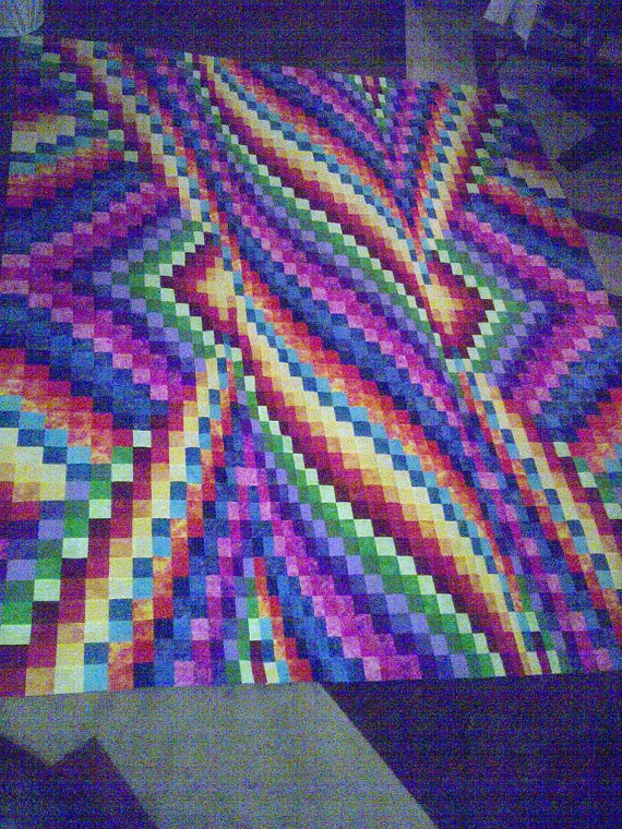 Bargello quilt by Msmarytx64 on Etsy, $475.00