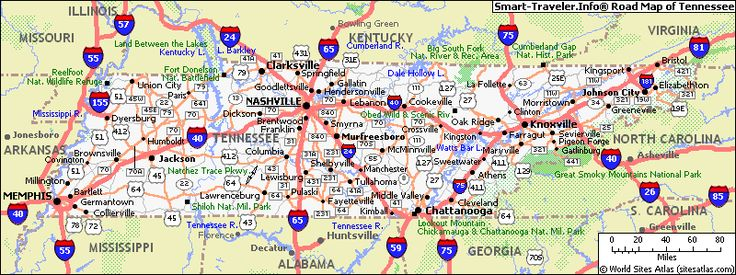 Maps Map Of Tennessee With Cities Blog With Collection Of Maps - Map of tennessee with cities