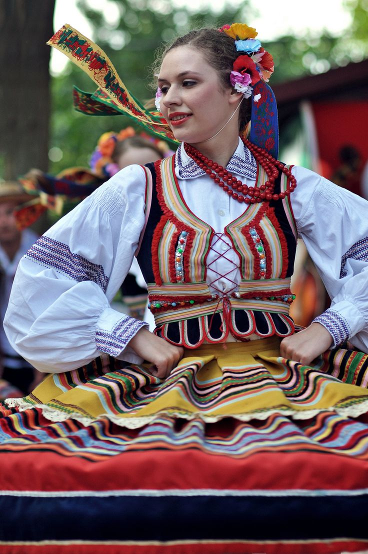 polandgallery:  Polish Folk Costumes, Polonezköy Cherry Festival. Polonezköy (Polish Village) is a Polish settlement in Beykoz district of Istanbul, Turkey  This costume is from Lublin :)