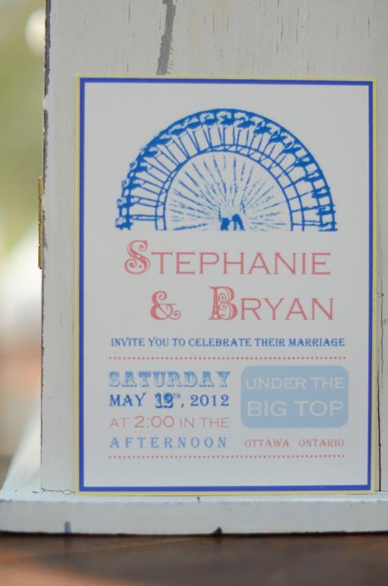 carnival wedding invitation  http://designsbymcs.wix.com/invitations