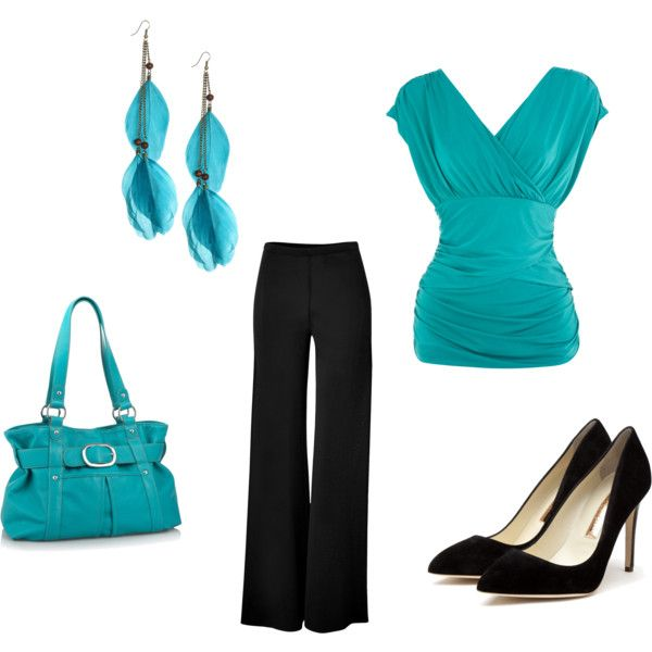 Teal and black: Engagement Photo Outfits, Colors Combos, Dreams Closet, Clothing Shoes Accessories, Profess Outfits, Blue Colors, Work Outfits, Wedding Outfits, Work Attire