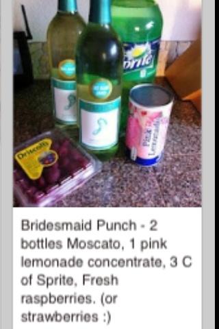 Bridesmaid punch