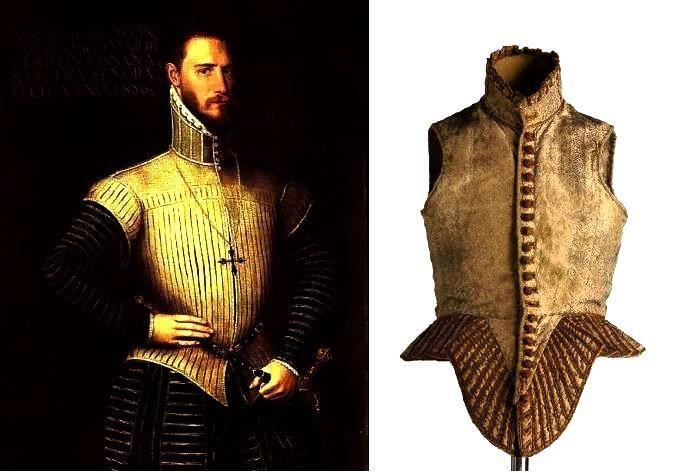 O gibão foi uma das peças do vestuário masculino mais importantes da época. Usado por todas as classes sociais, conheceu várias formas desde que surgiu no século XIV até ao século XVI. É uma espécie de camisa forrada e enchumaçada a salientar o peito, que molda a cintura para depois cair em roda sobre as ancas.