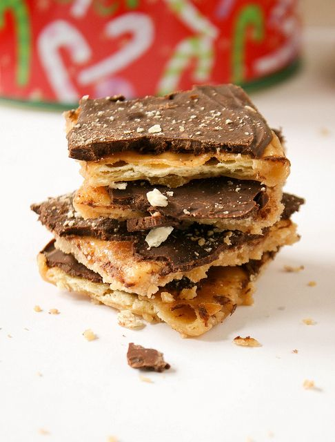 Saltine Toffee ( Christmas Crack) by daintychef, - make with chef series chocolate and artisan salts on top.  YUMMM