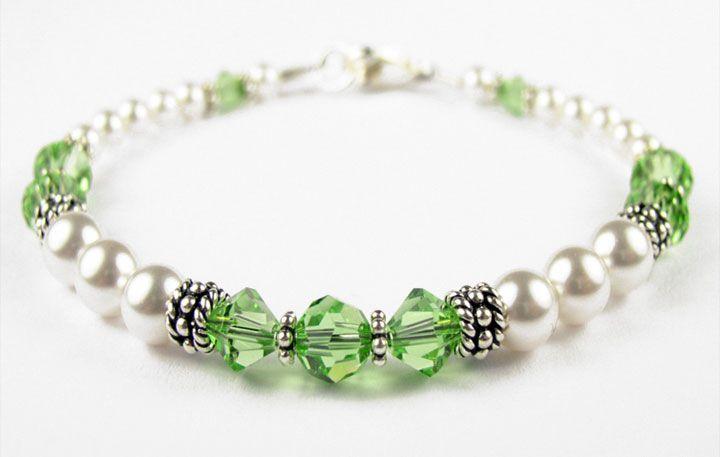 Image detail for -... Bracelets: Handmade Swarovski Crystal Birthstone Beaded Bracelets