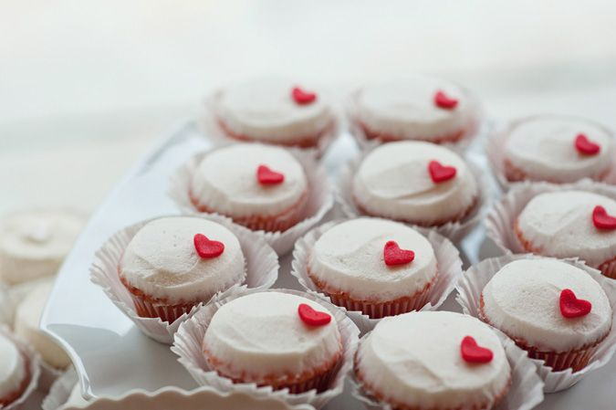 heart cupcakes #red #valentinesday