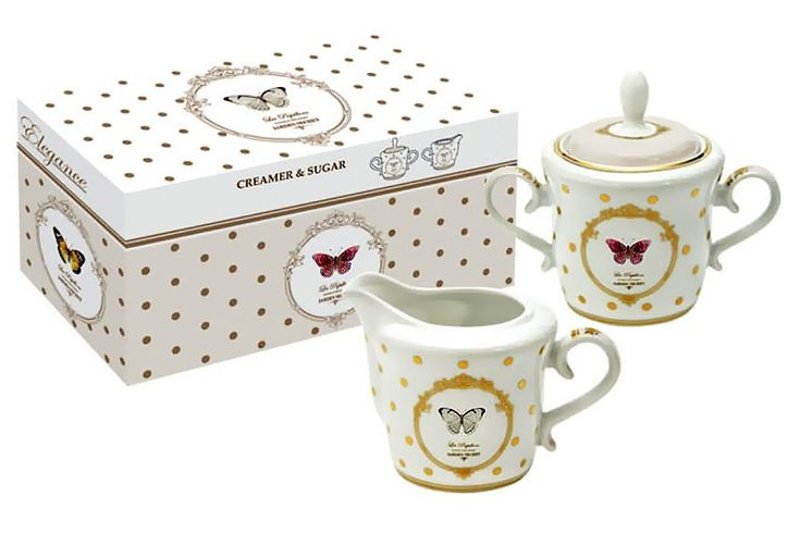 Набор: сахарница и молочник из фарфора «Люксембургский сад»      Бренд: Easy Life (Nuova R2S) (Италия);   Страна производства: Китай;   Материал: фарфор;   Объем молочника: 200 мл;   Объем сахарницы: 200 мл;          #tea #porcelain #фарфор #посуда #чай