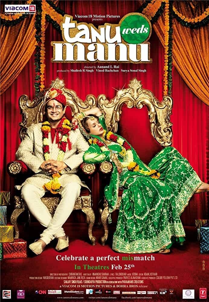 Tanu Weds Manu 2011 In 2020 Best Romantic Movies Romantic Movies Latest Bollywood Movies