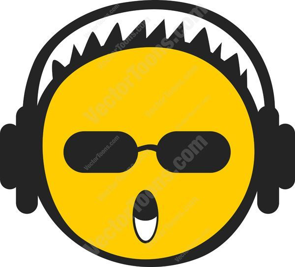Spikey Short Haired Yellow Emoticon Wearing Headphones #audio #cool #emo #emotion #expression #face #feeling #headphones #hip #hot #mood #mp3 #music #PDF #popular #smiley #trendy #vectorgraphics #vectors #vectortoons #vectortoons.com