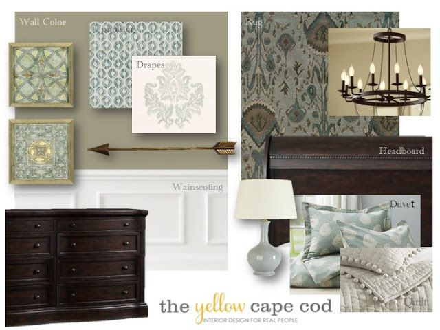 The Yellow Cape Cod: How We Made A Large Expansive Bedroom Feel Warm and Cozy