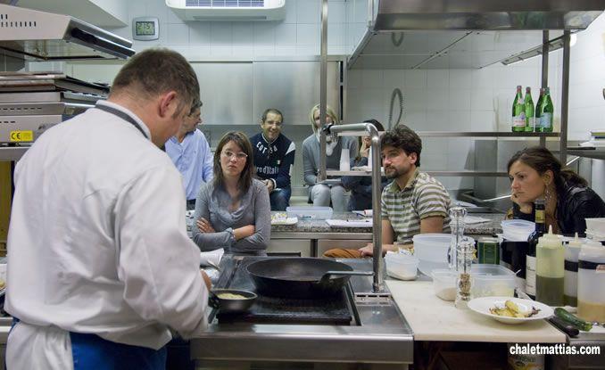 Corsi di cucina con lo Chef Stellato Mattias a Livigno