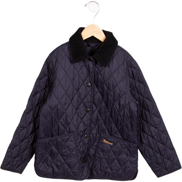 Pre-owned Barbour Boys' Lightweight Quilted Jacket (450 BRL) ❤ liked on Polyvore featuring blue