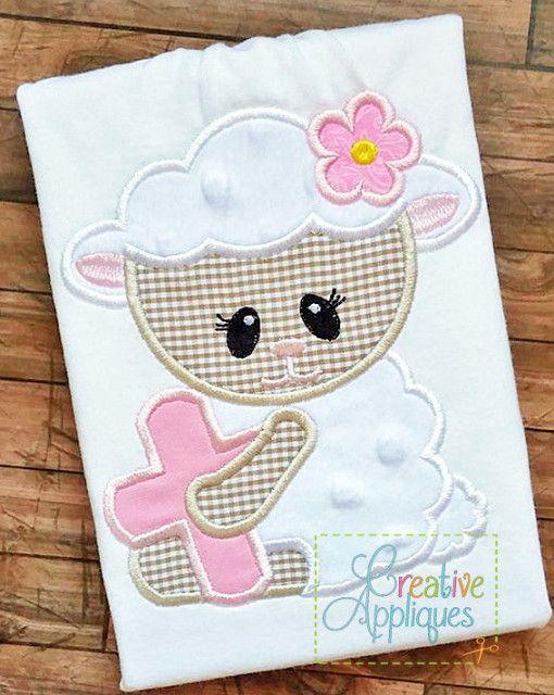lamb-cross-applique REPIN THIS then clisk here: www.creativeappliques.com