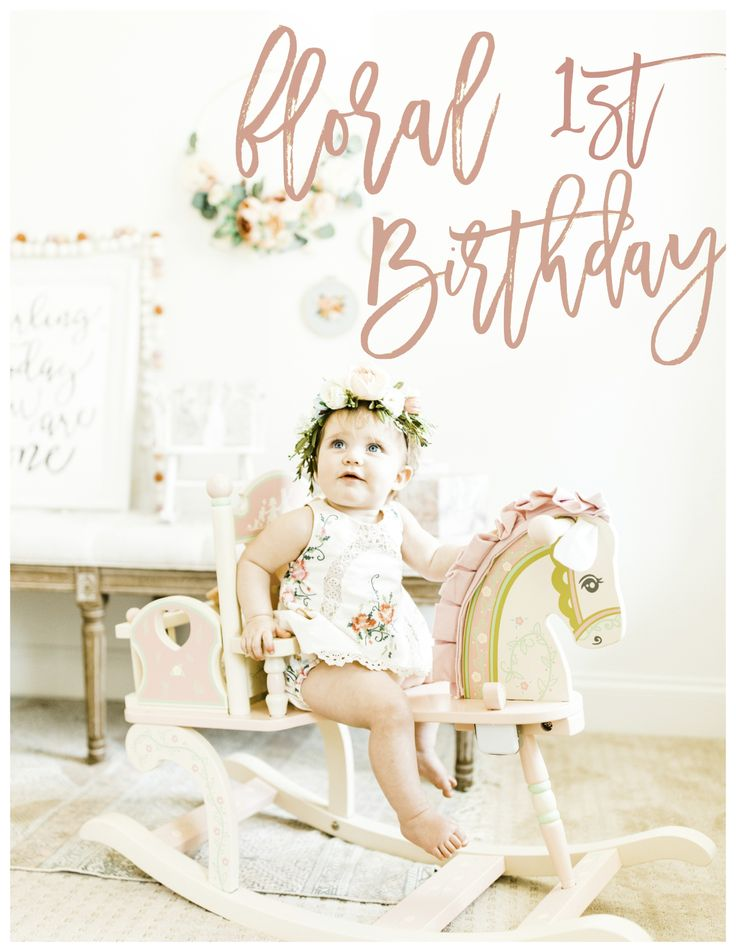 Baby Girl 1st Birthday Floral Birthday Party on the Blog party ideas theme pictures cake outfit vintage florals flower party decorations baby invitations DIY shabby chic present photography photoshoot edible flowers desserts flowers high chair flower crown cookies cake topper smash cake baby girl boho wildflowers crown simple darling handmade etsy one year 1 year peonies wildflowers liberty liberty florals paper eucalyptus girl birthday party blog blogger