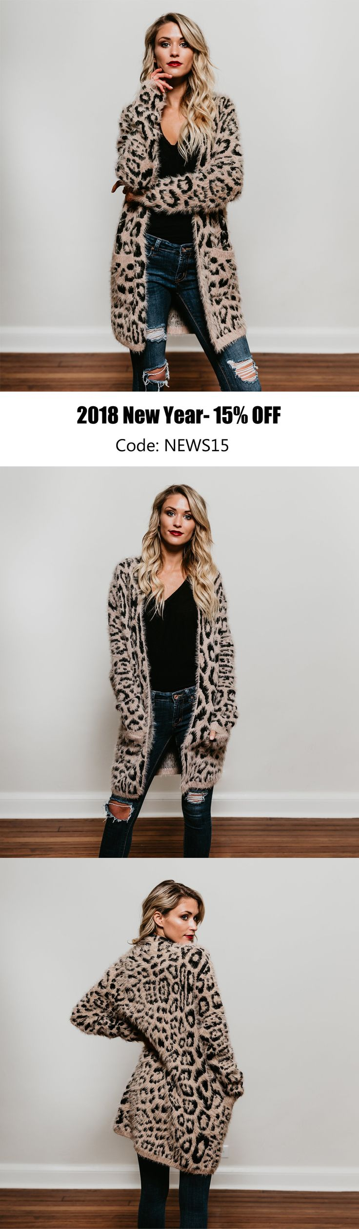 Cute cute! I actually just saw a very similar leopard cardigan at Nordstrom's last weekend. $75 (Jan /2018)