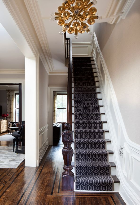 stairs! A CLASSIC UPPER EAST SIDE TOWNHOUSE GETS A FUNKY UPDATE Designer Blair Harris injects humor and color into a sophisticated New York space. The Details: Interior Design: Blair Harris, Photography: Nick Johnson, Source: Blair Harris Interior Design