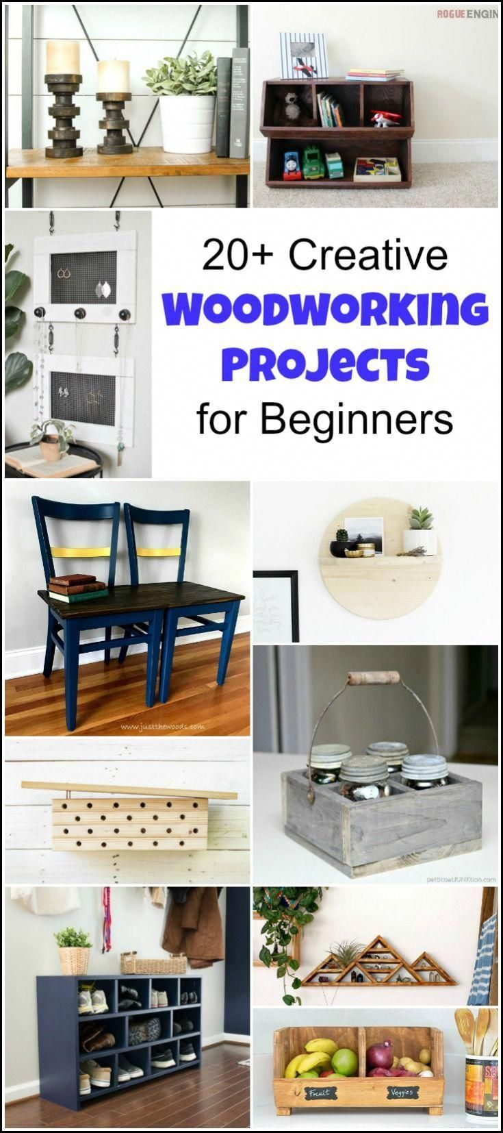 20 Creative Beginner Woodworking Projects