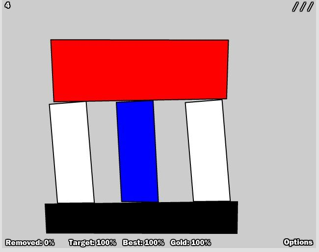 Free physics games onilne - 3 Slices 2 3 Slices, a fun addicting physics-based puzzle game, is back for the next round. It´s up to you to remove a specific percentage of the colored shapes by cutting off some pieces.