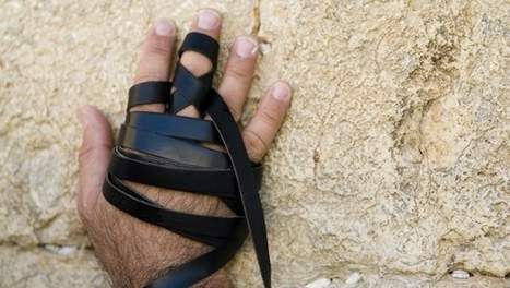 Prayer belt, every Jewish man has to wear this during praying. From their Bar Mitswa on ( about 13 years old).