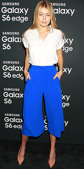 GIGI HADID at a Samsung Galaxy coacktail party in NYC