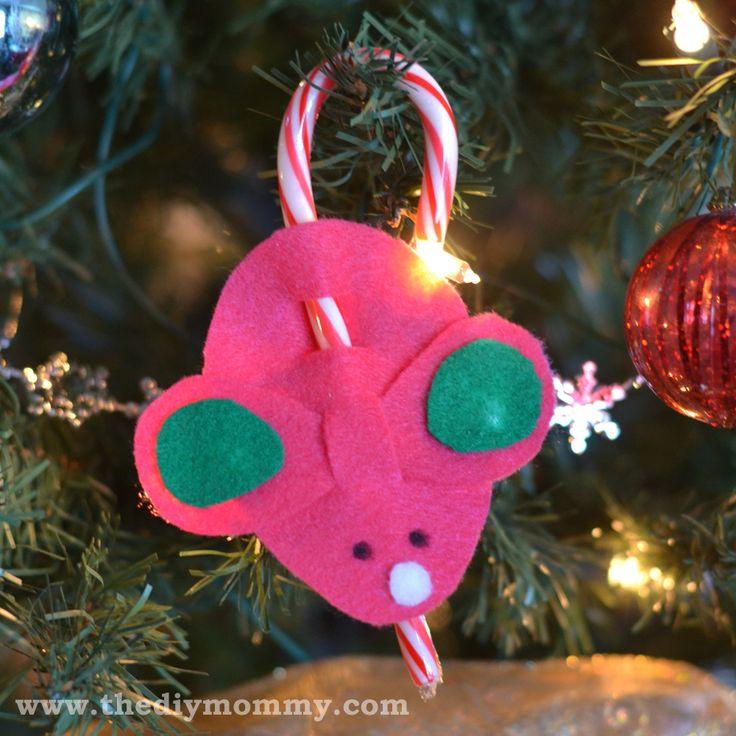 Candy cane mice craft a la martha stewart i make these every year i