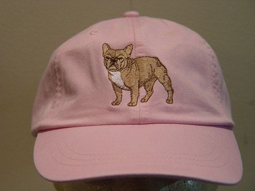 FRENCH BULLDOG Hat One Embroidered Men Women Dog by priceapparel