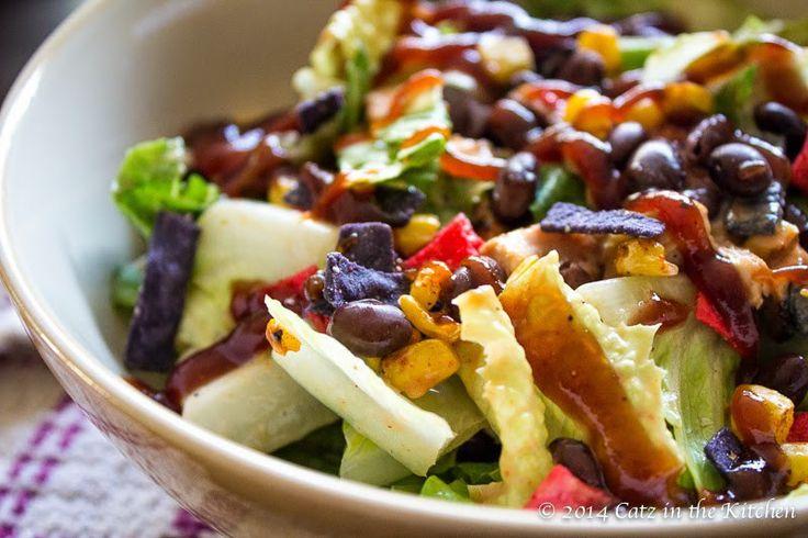 {Copycat} Panera Bread BBQ Chopped Chicken Salad - Catz in the Kitchen
