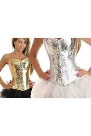 Corsets online dorado plata - Corsets online lenceria vestidos