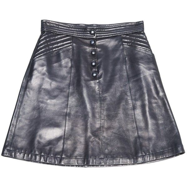 Pre-owned Louis Vuitton Leather Mini Skirt ($706) ❤ liked on Polyvore featuring skirts, mini skirts, navy, women clothing skirts, leather skirt, navy leather skirt, navy blue mini skirt, short leather skirt and short mini skirts