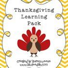 This pack contains 26 pages of fun literacy and math activities for Thanksgiving!   Included  Thankful Turkey Color by Number Turkey Three Part Puz...