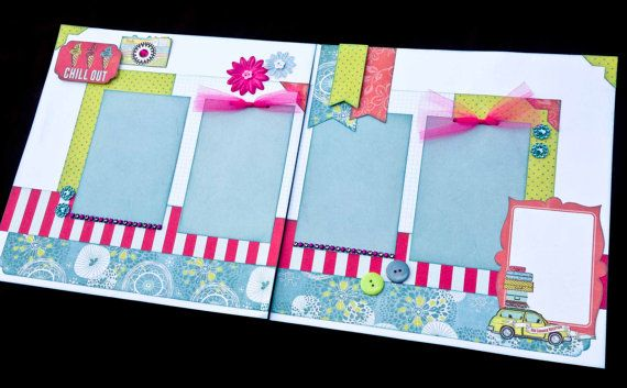 Vacation Scrapbook 12x12 Premade Scrapbook by JenSodowskyDesigns