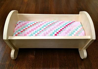Vintage Doll Cradle- free plans/tutorial.  No complicated tools (just a jigsaw).