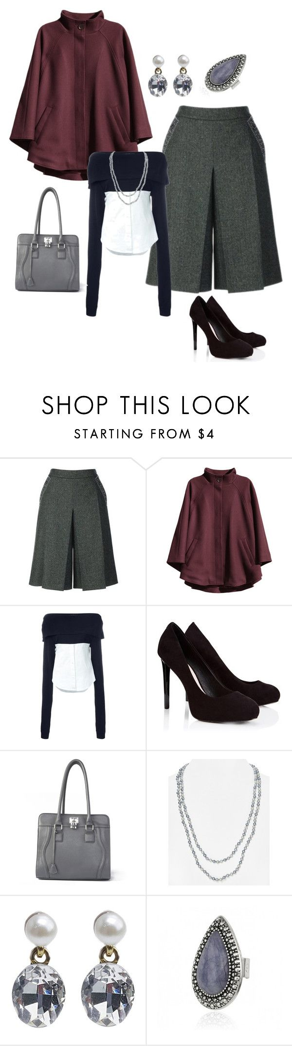 """Athens 28-10-2015"" by antiadamo on Polyvore featuring H&M, Jacquemus, Lipsy and Carolee"