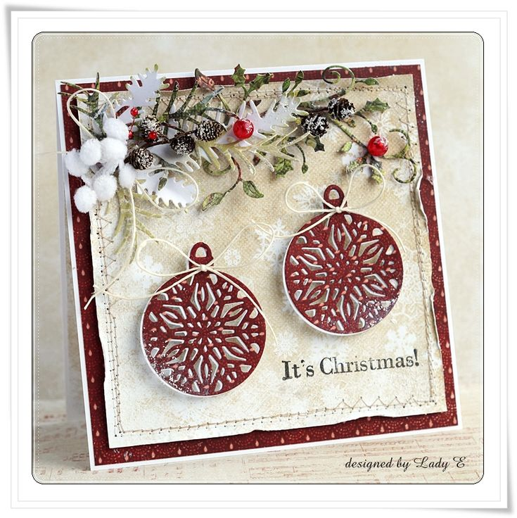 Check out this stunning card by Emilia Sieradzan using the FREE Crafter's Companion bauble die with Simply Cards & Papercraft 129. Grab your copy here: http://www.moremags.com/papercrafts/simply-cards-papercraft/simply-cards-129