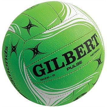 Netball Balls - Rebel Sport - Gilbert Pulse Netball Lime Size 5