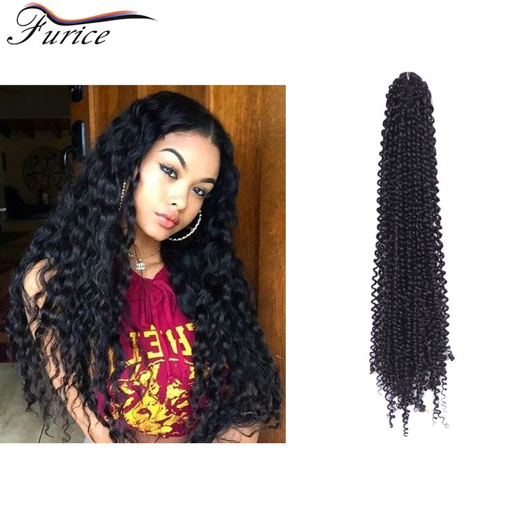 Hair Crochet Twist Kanekalon Braiding Hair Bundles Marely Twist Curly ...