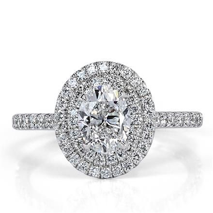 1.55ct Oval Cut Diamond Engagement Ring