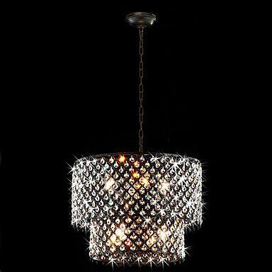 USD  $234.99 (40% Off)  USD $391.65   http://www.lightinthebox.com/modern-8-light-pendant-lights-with-crystal-drops_p358703.html