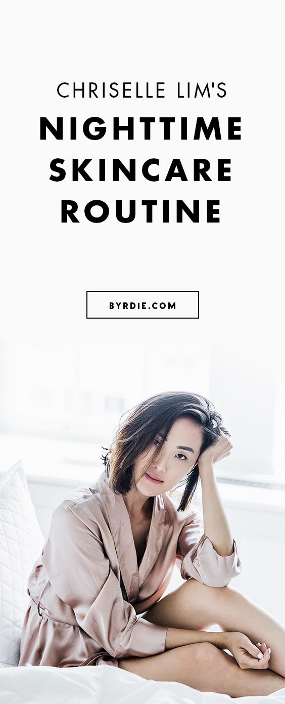 Chriselle Lim's evening skincare routine