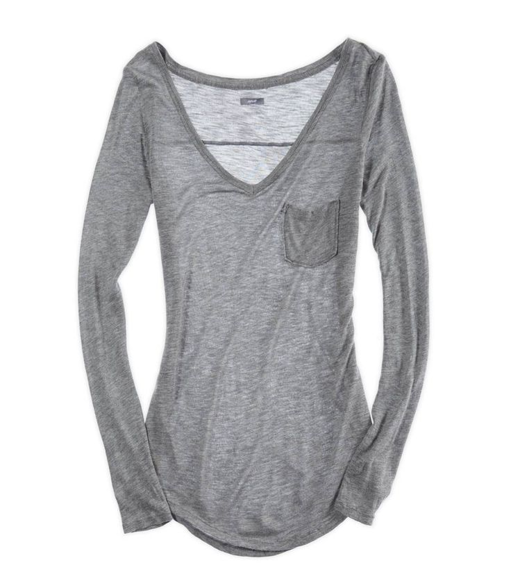 Another pinner said this is the most comfortable long-sleeved shirt they've ever had. Dark Heather Grey - Aerie $22.95: Style, Comfiest Long Sleeved, Ballet Outfit, 26 Comfiest, Comfiest Items