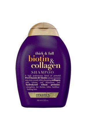 ORGANIX Biotin&Collagen Shampoo 385 mL http://www.kozmopoli.com/urun/organix-biotincollagen-shampoo-385-ml-full-dolgunlastirici-sampuan/
