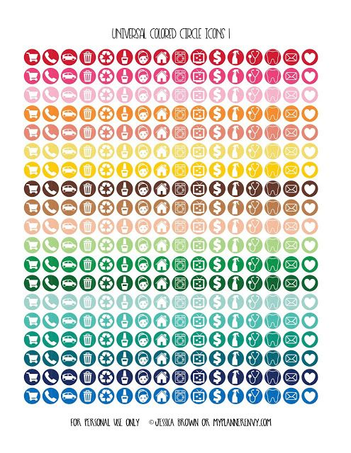 Universal Colored Circle Icons Page 1 from myplannerenvy.com