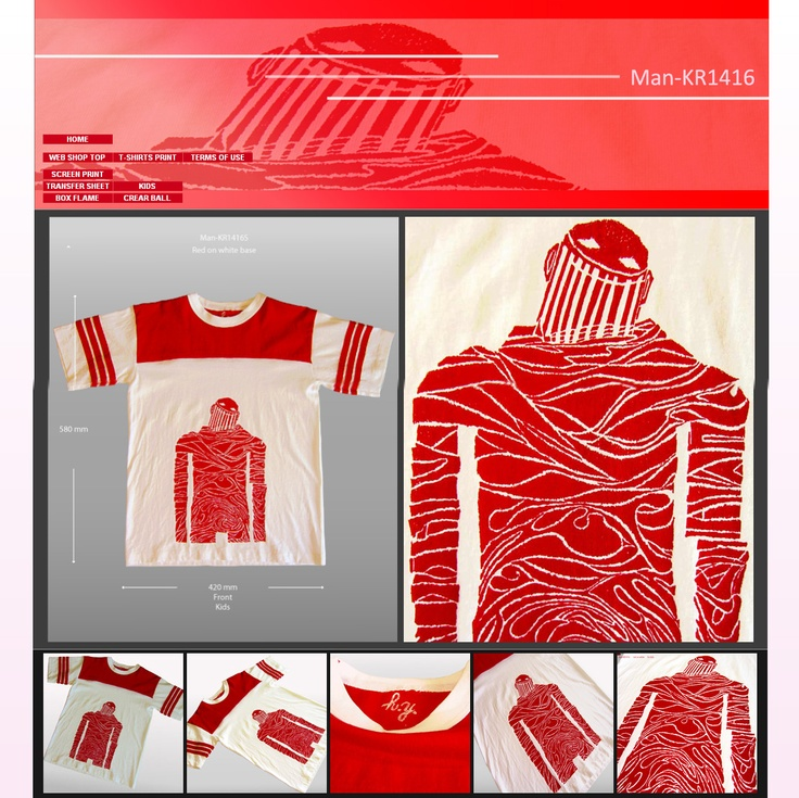 Released New T-shirts for Kids Man-KR1416 キッズ向け(US size) 新作Tシャツリリースしました。1枚しかないです。 http://www.hidetoshiyamada.com/Web.Shop/Web.Shop.T-shirts/No.1.Man-KR1416.html