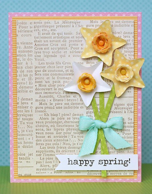 Happy Spring card! www.fiskars.com
