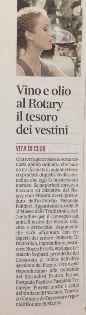 articolo Messaggero Pescara