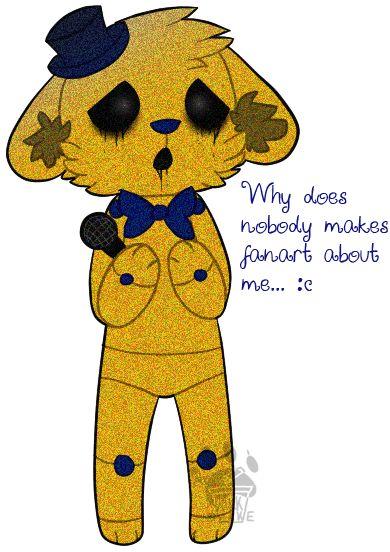poor golden freddy by MrMilkshake.deviantart.com on @deviantART