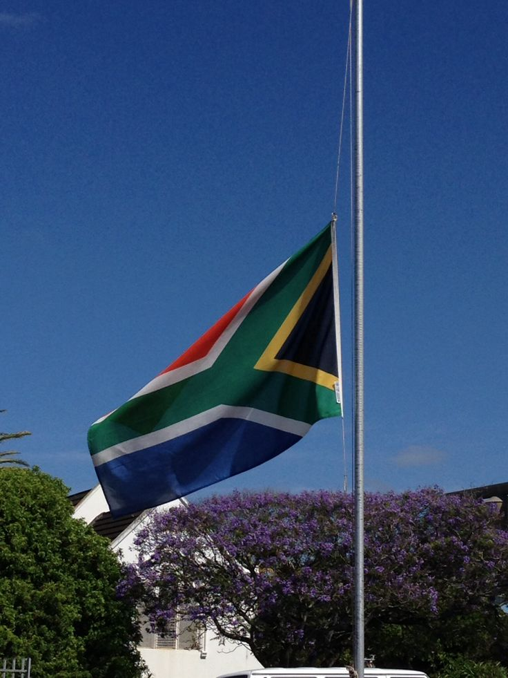 Flags at half mast to pay tribute to the life of Nelson Mandela who died December 5th, 2013. Rest in peace Madiba.