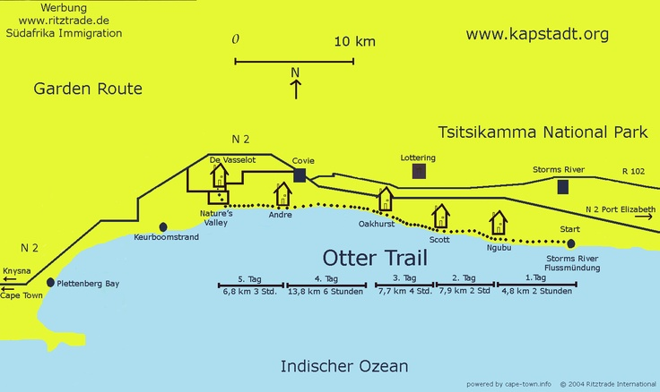 Otter Trail route map