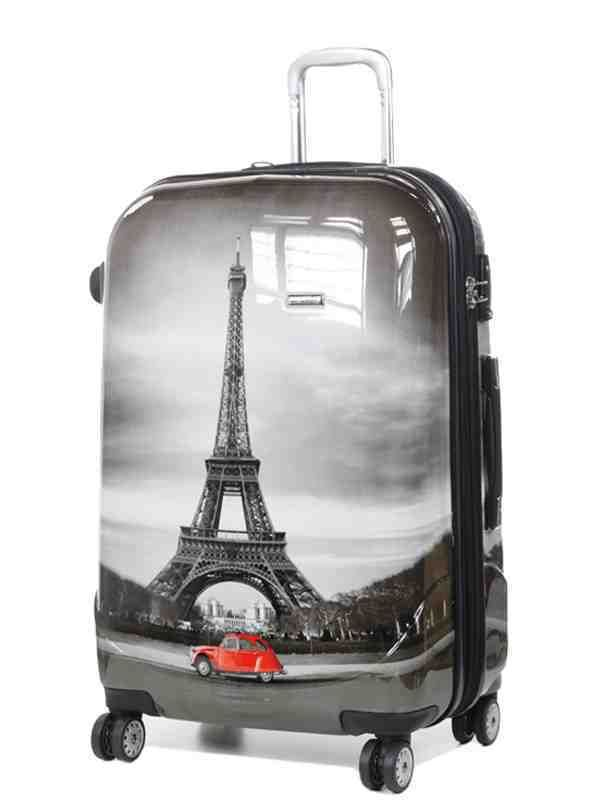 Maleta París en tamaño cabina, mediano y grande.  Consíguelo en www.maletasoutlet.com